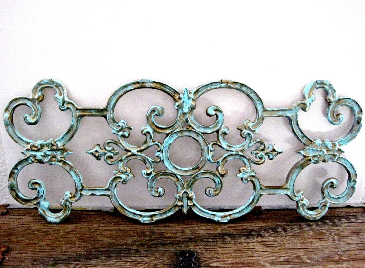 Wrought Iron Large Wall Decor Large Wrought Iron Gate Architectural Salvage Wall Decor  Knick