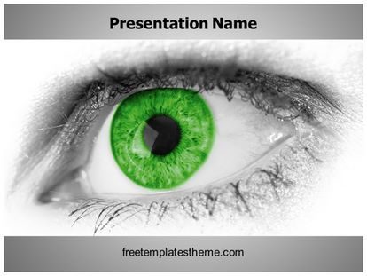 Get this free green eye powerpoint template with different get this free green eye powerpoint template with different slides for you upcoming powerpoint presentation free green eye ppt template is easy toneelgroepblik Gallery