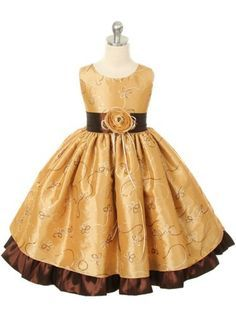 f0666b6120479 Christmas+Gold+dress | SIZE 9/10 Gold – Girls Christmas Holiday Dress  (Assorted Colors .