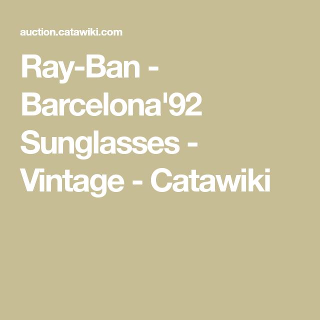 3fa1bc7519 Ray-Ban - Barcelona 92 Sunglasses - Vintage - Catawiki
