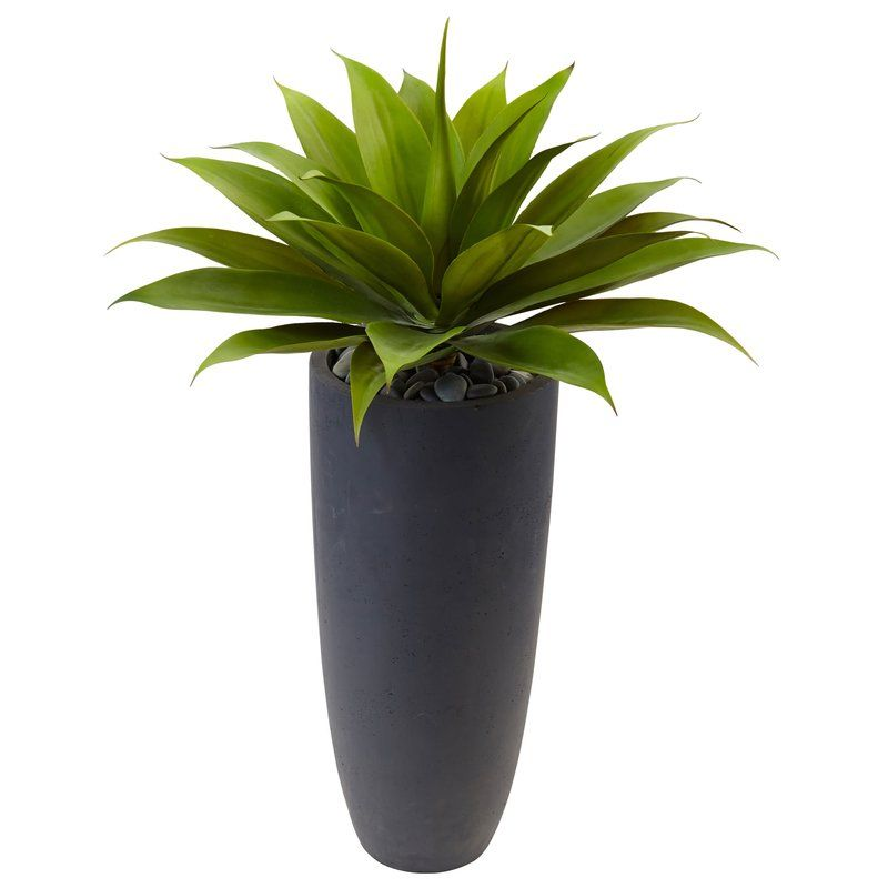 14 Artificial Agave Plant In Planter Artificial Plants Artificial Plants Outdoor Small Artificial Plants