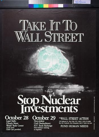 Anne Katz ~ designer - Take It to Wall Street: Stop Nuclear Investments (1979)