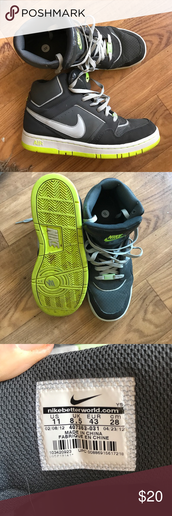 Men's Nike Air sz 11 Used but still look very nice. No stains rips or holes. Bottoms show little wear. Comes from a smoke free home Nike Shoes Athletic Shoes