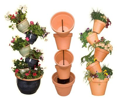How To Make Terra Cotta Pots Stacked Crafts Planters Garden
