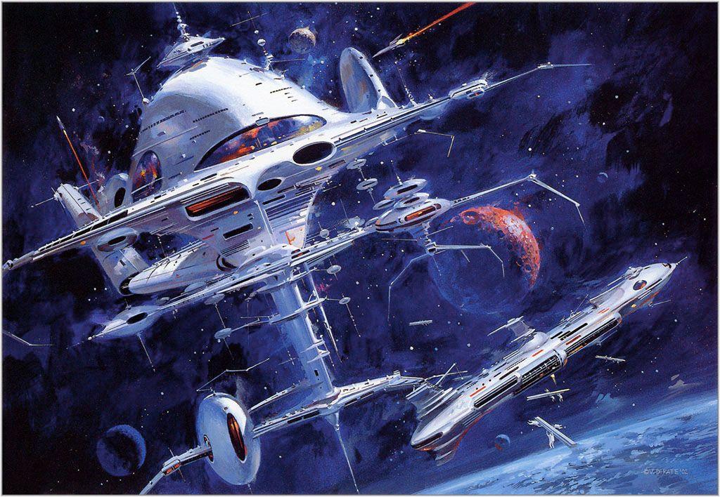 1970s Space Art By Vincent Difate Concept Science Fiction Art