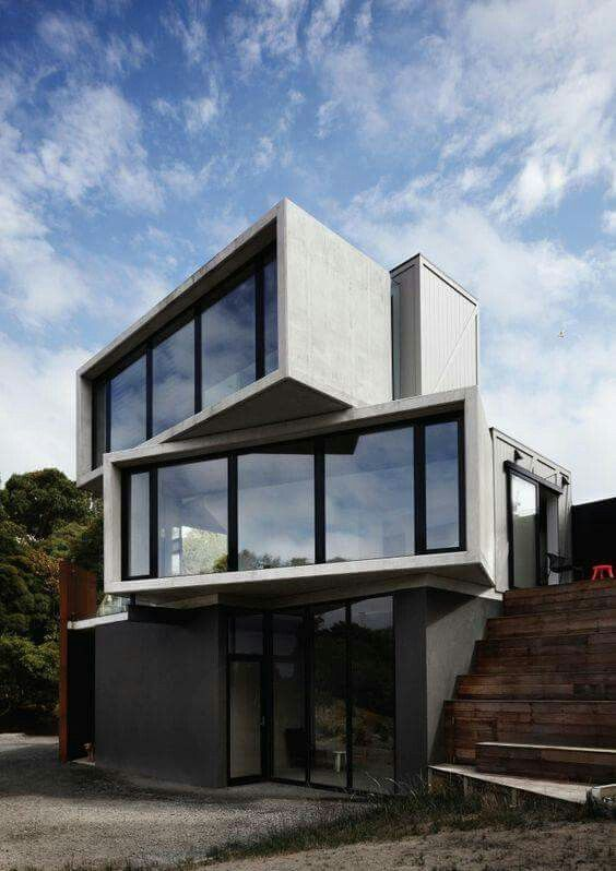 20ft shipping container house idea architectural boxes for Modernes containerhaus