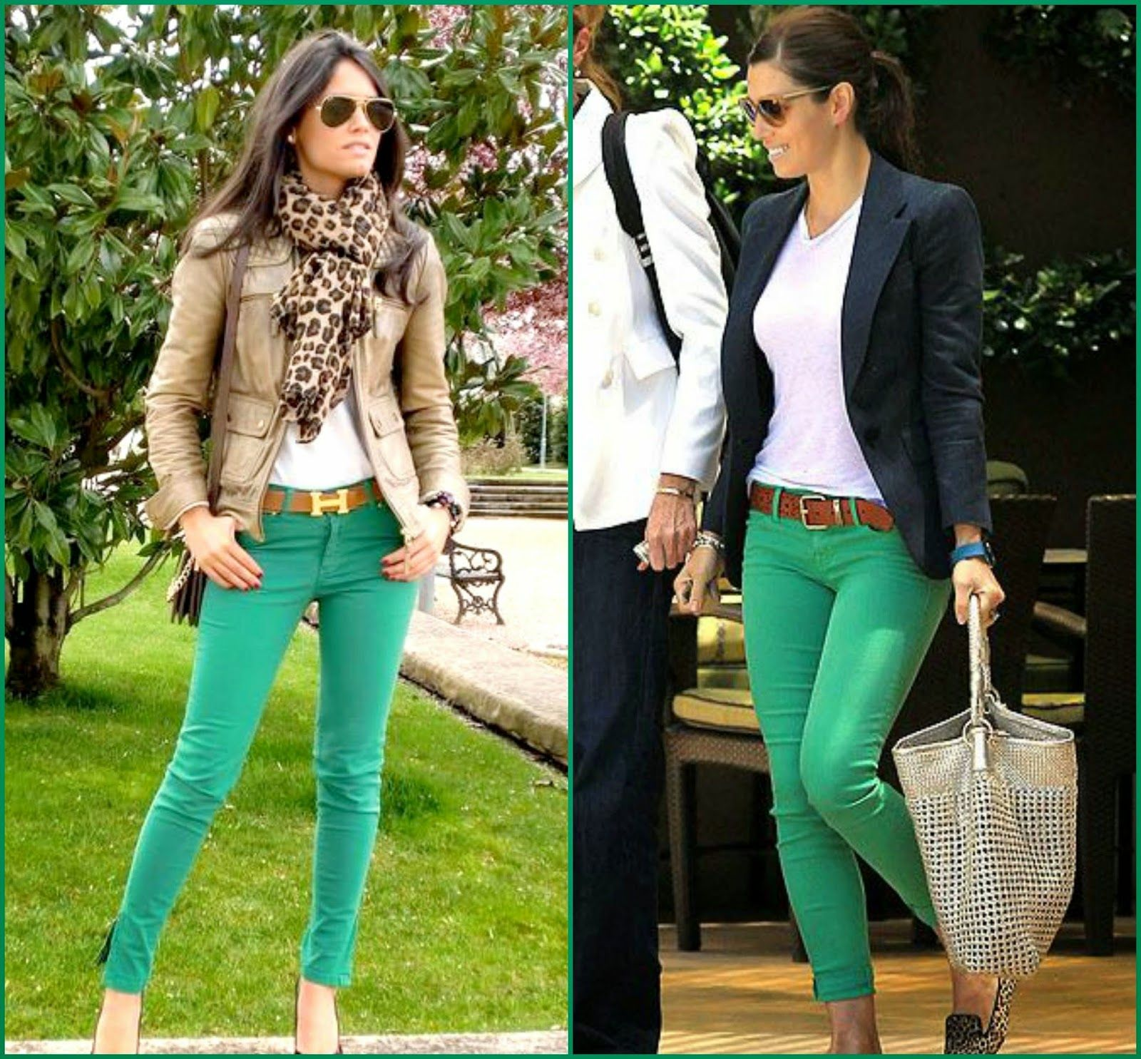 How to Wear Green Pants - Blazers in Navy, Black, White, Brown ...