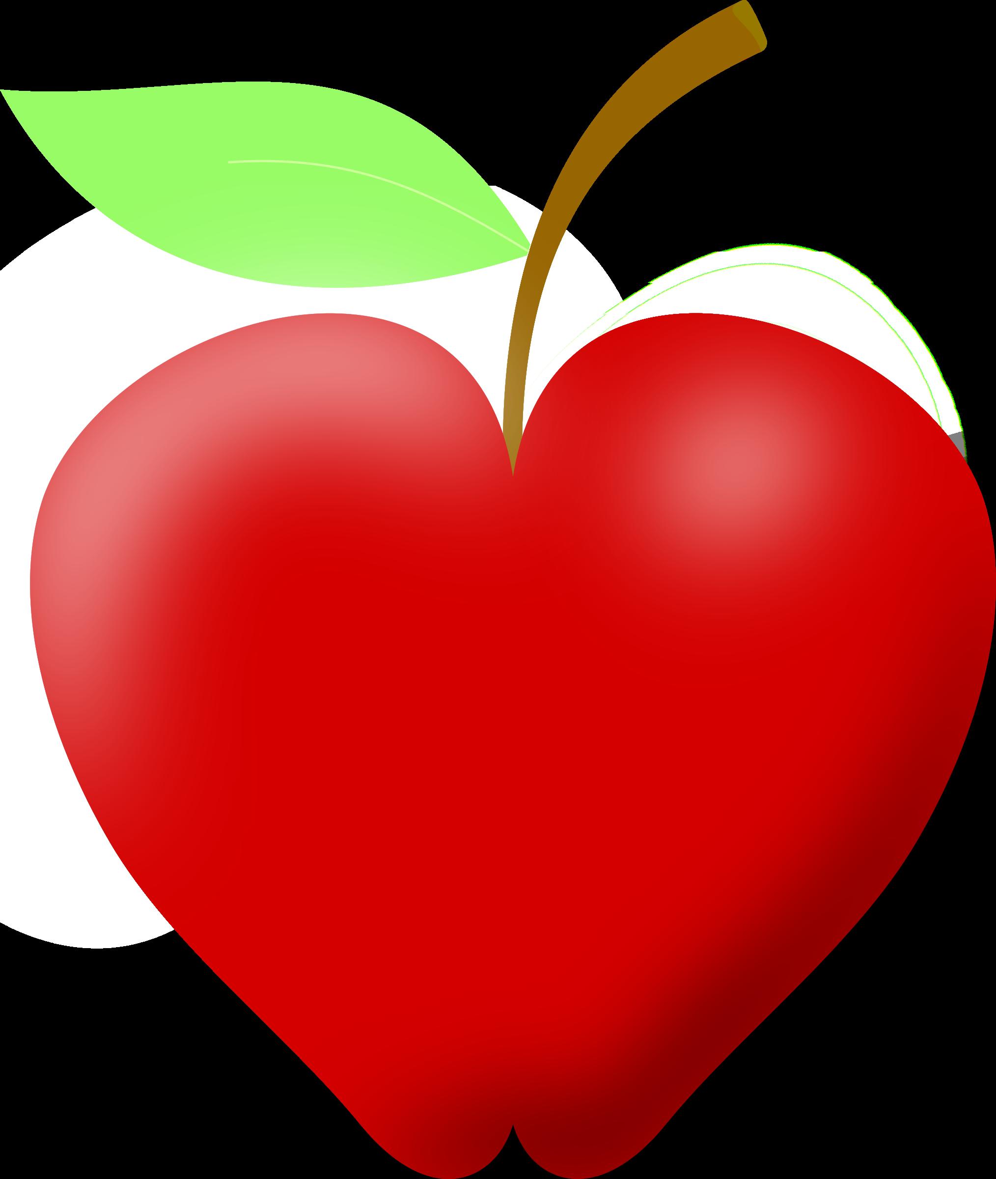 Heart clipart apple 2 Clip art