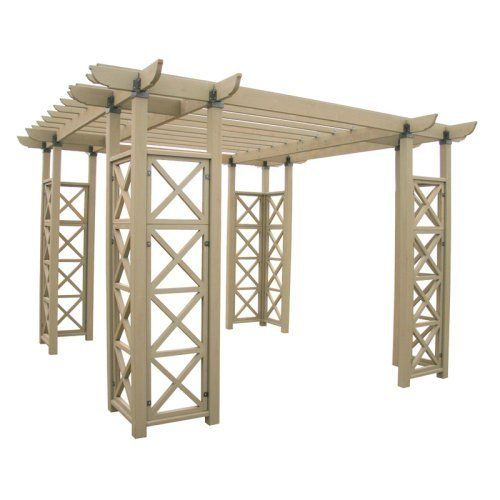 Yardistry 12 X 12 Ft Cedar Flat Roof Pergola By Yardistry 1339 98 Crafted From Insect Resistant Cedar All The Tools You Need Are Included Dimension Pergola
