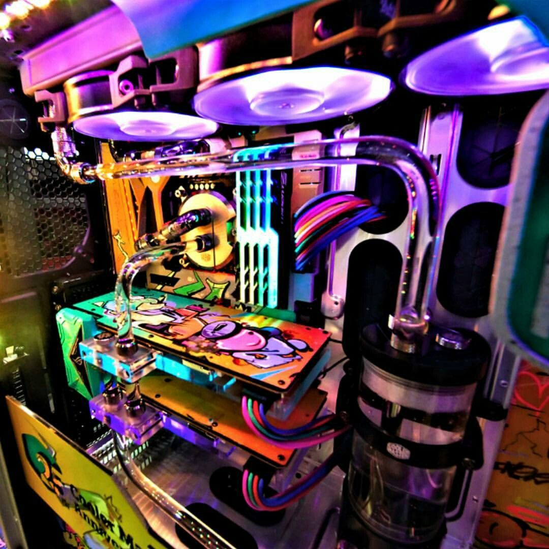 Beautiful Colorful Custom Pc Beautiful Tech Awesome Unusual Pc Desktop Computer Halloween Tehnologii Kompyuter Dizajn