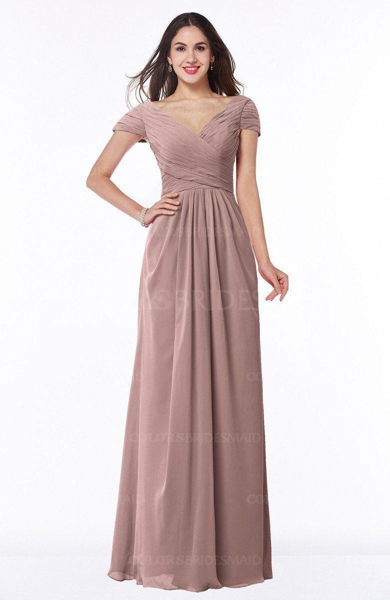 2d52eaf96faa Bridal Rose Glamorous A-line Short Sleeve Floor Length Ruching Plus Size Bridesmaid  Dresses