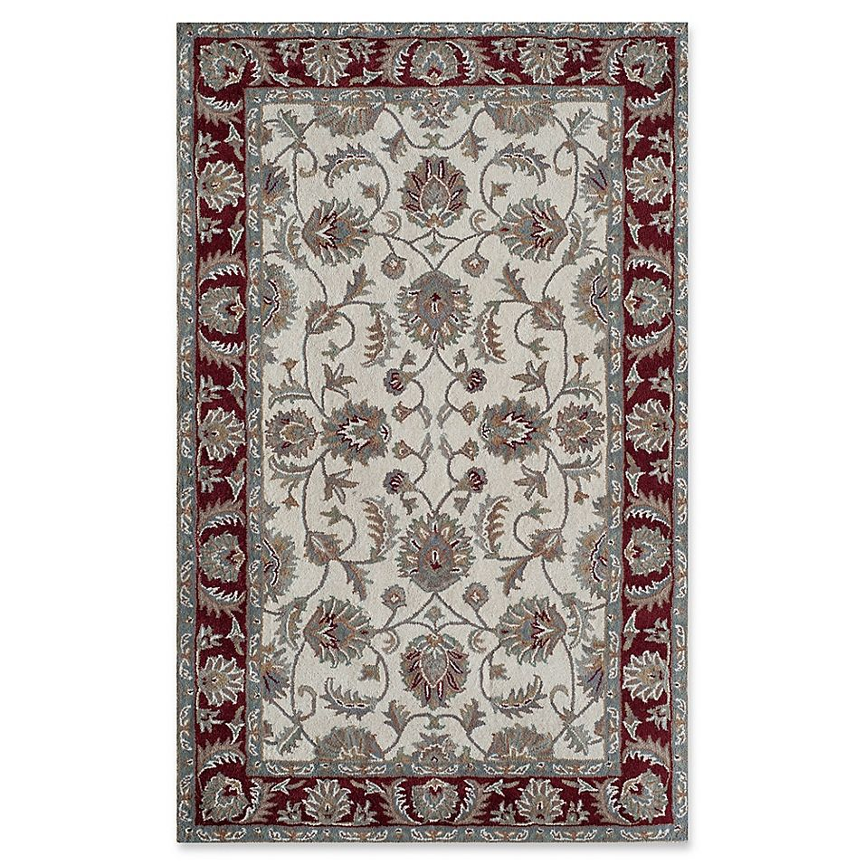 Rugs America New Dynasty 2 X 4 Accent Rug In Ivory Burgundy