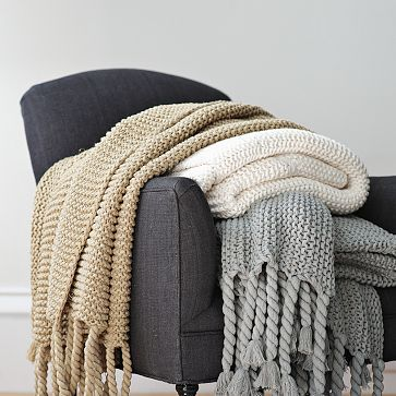 chunky tassel throw west elm 69 home and furniture. Black Bedroom Furniture Sets. Home Design Ideas