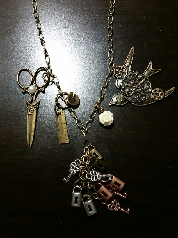 #Happyface#steampunk#imadethis#necklace