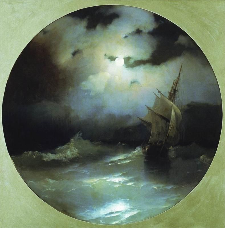 Sea on a Moonlit Night, 1858 by Ivan Aivazovsky
