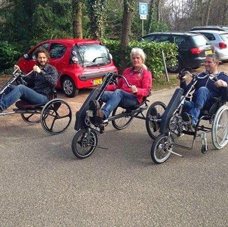 Dreirad mit Hand- und Fussantrieb. Als Option mit funktioneller elektrischer Stimulation FES Probefahrten kostenfrei bei www.Alb-Store.de Tel: 0171 7725 865