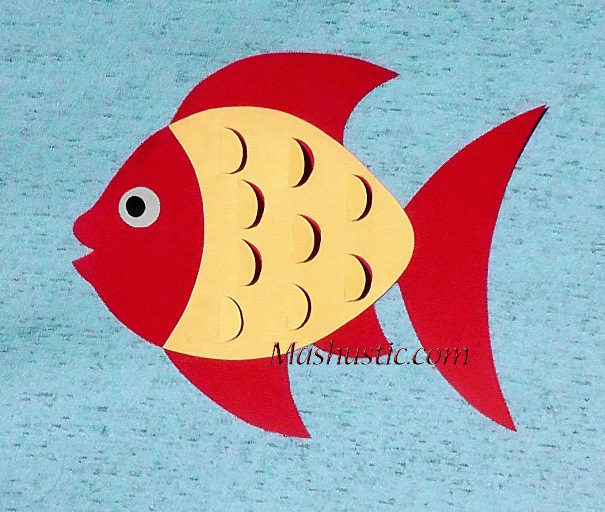 Attractive Fish Template To Color Composition - Coloring Page ...