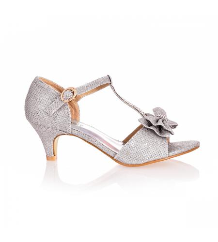 Czolenka Dzieciece Rozowe Sandaly Na Koturnie Dla Dziewczynki Pink Heels Shoes Kitten Heels