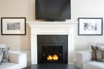 Beau Hearth Cabinet Ventless Fireplace   Custom Traditional Black   Traditional    Fireplaces   New York