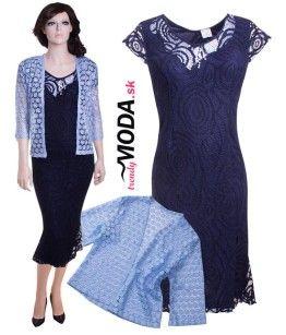 Tmavomodré spoločenské šaty pre moletky s originálnou aplikáciou.-  trendymoda.sk fdee1aa4884