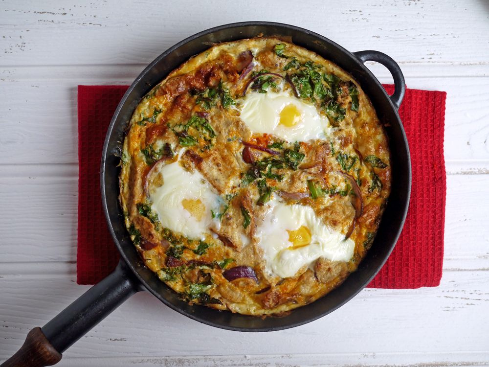 Chorizo and Kale Strata Ingredients