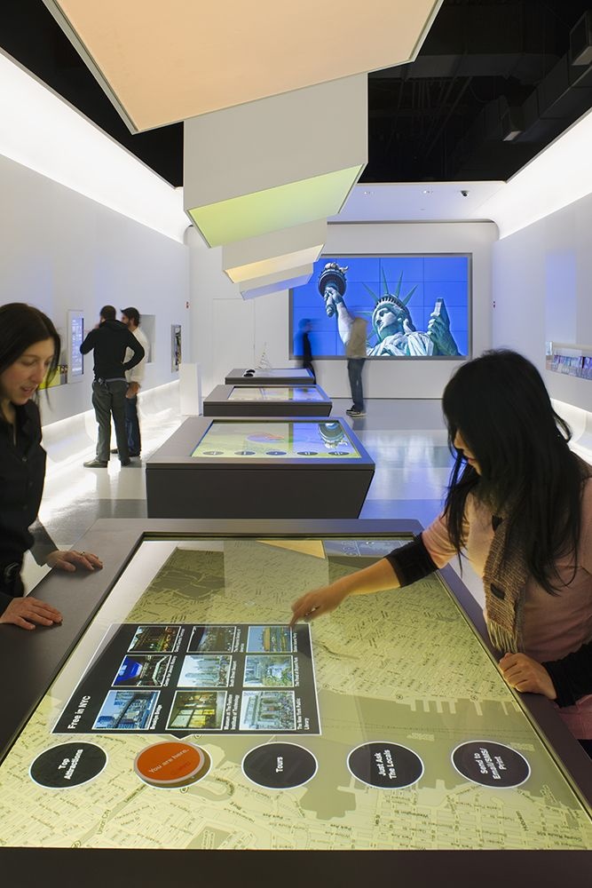 The world is my interactive interface new york city visitor 39 s center interactive tables and - Office de tourisme melbourne ...