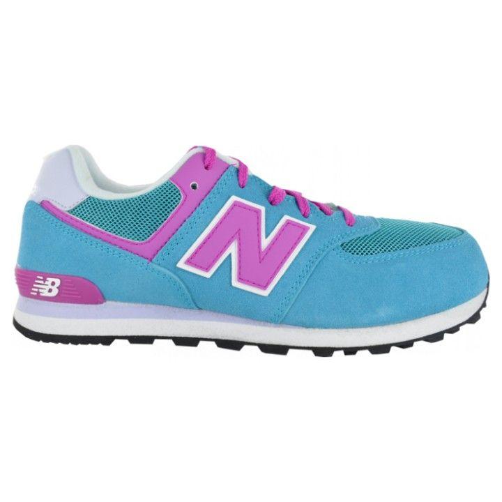new balance azul y rosa niña