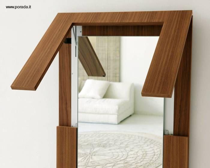 Espejo De Pared Es Mesa Plegable Jpg Mesas De Madera Espejos De Pared Muebles Para Espacios Pequeños