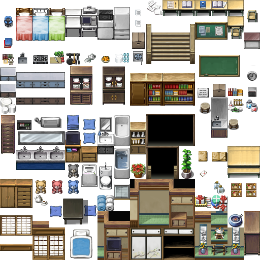 Tilesets Modern + Mack by milkian | RPG Maker in 2019 | Rpg