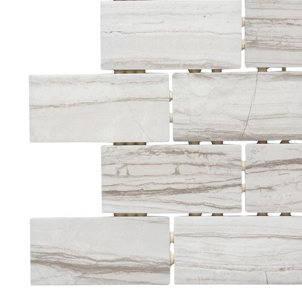 MARAZZI VitaElegante Grigio 12 in. x 12 in. x 6 mm Ceramic Brick ...