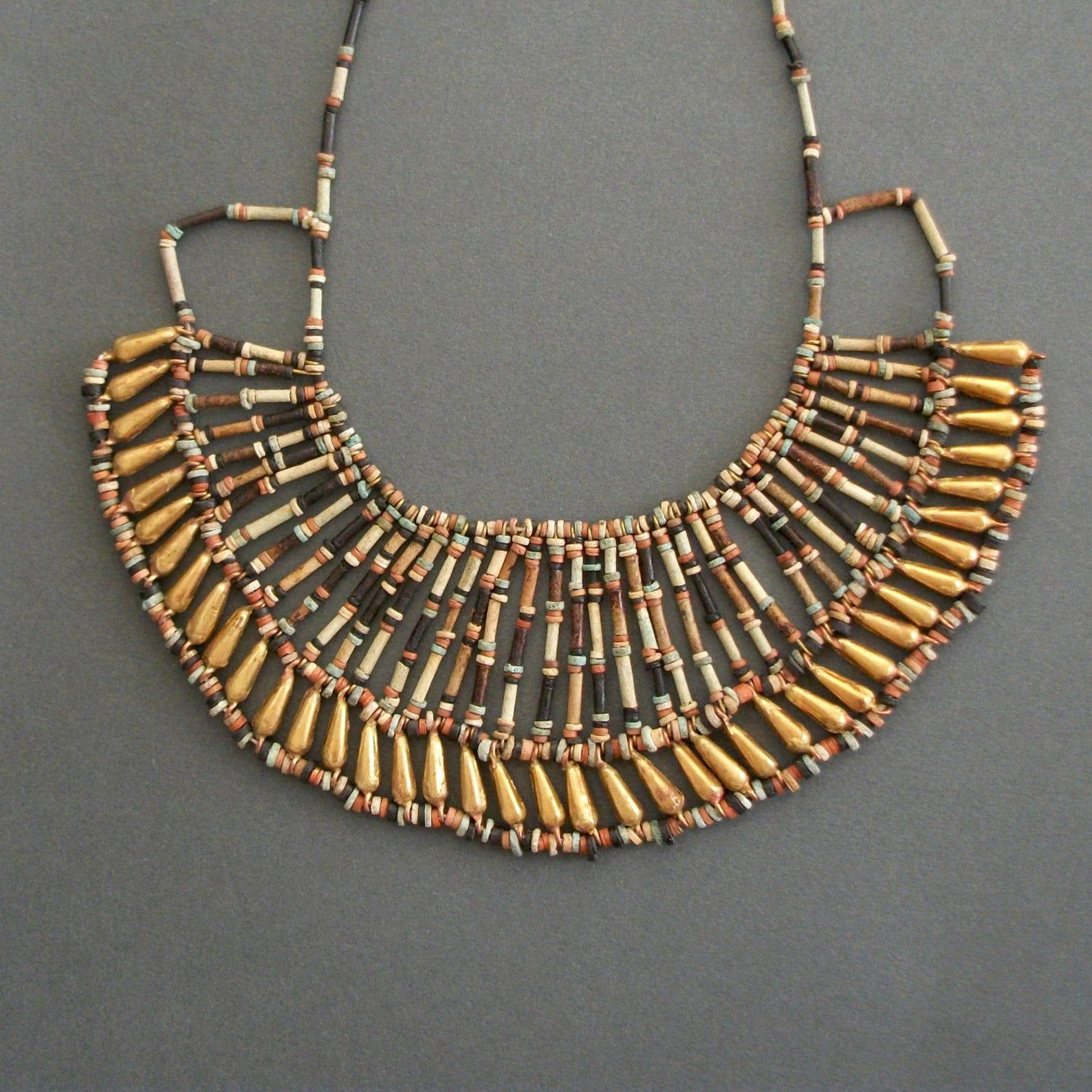 Giza Egypt AntiqueTravel Art Cameo Citrine Necklace