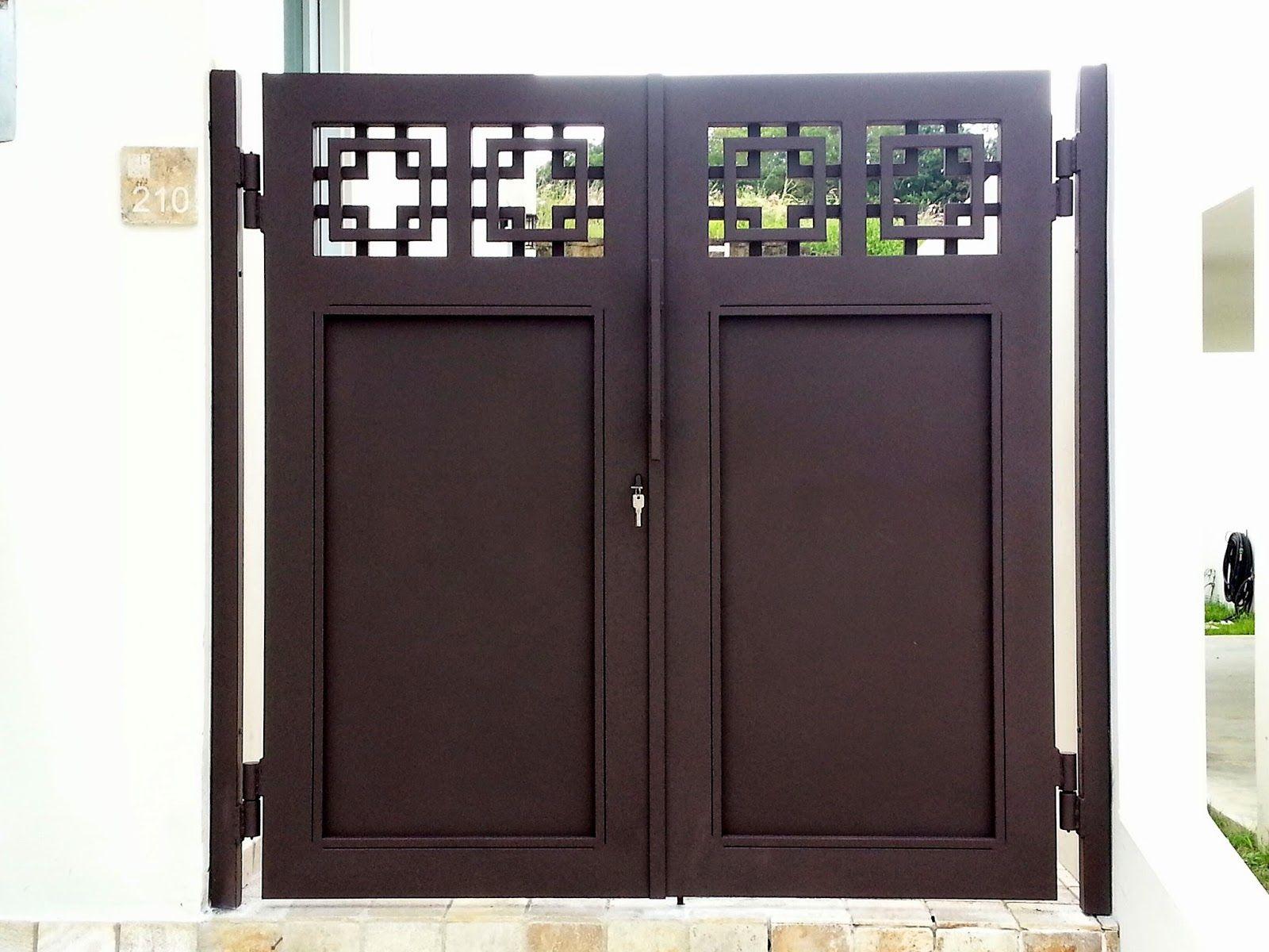 Rejas y portones portones modernos puertas by silvina for Modelos de puertas de metal para casas