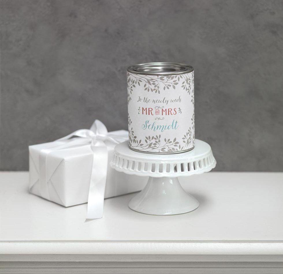 Bgelverschlussglas und Karte als Geldgeschenk fr das Brautpaar