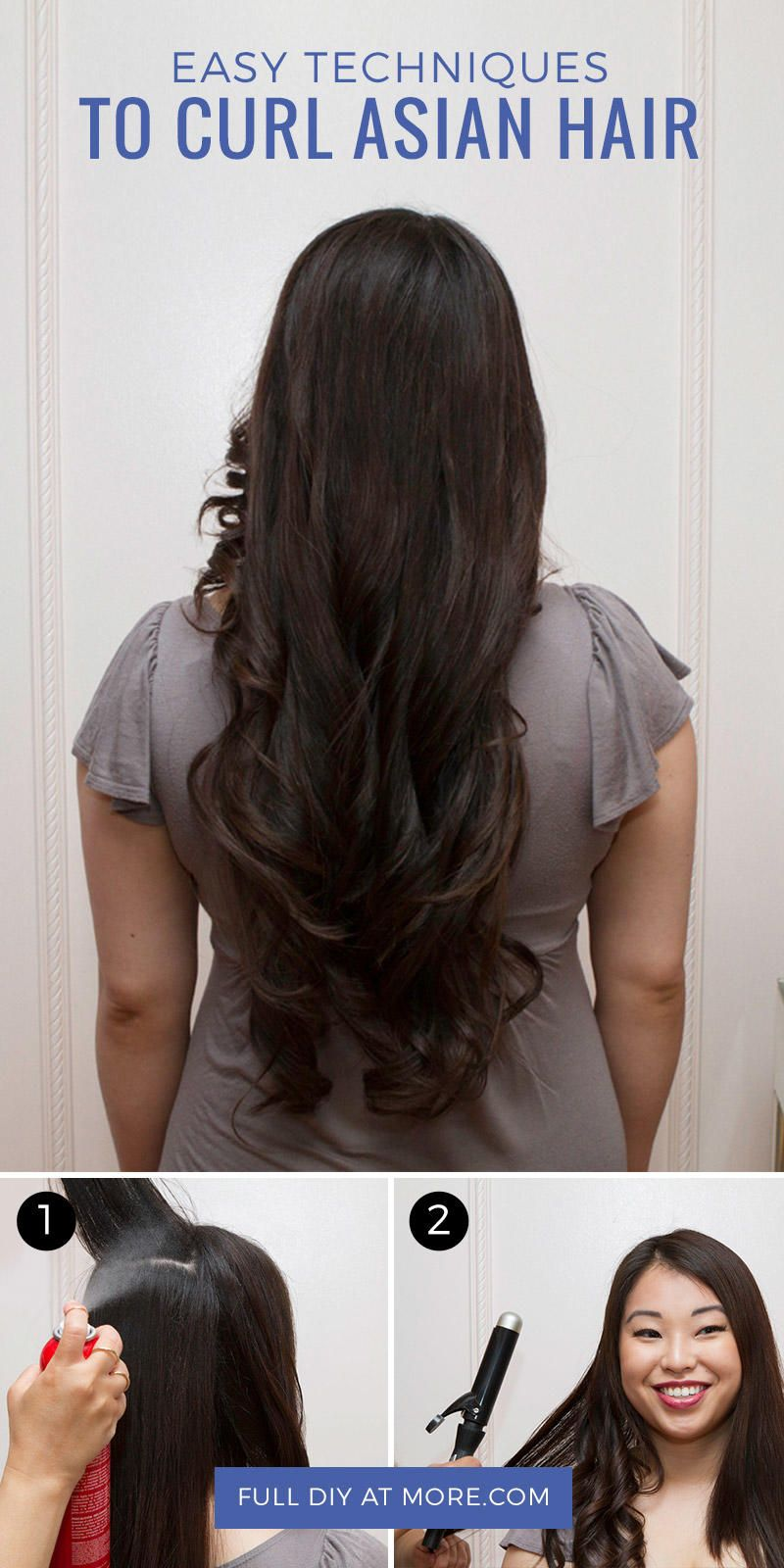 Thick Lustrous Asian Hair Can Be Resistant To Curling Here Are A Few Easy Steps To Follow To Create Long Lasti Asian Hair Asian Long Hair Asian Hair Products