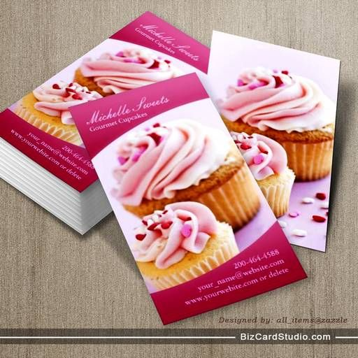 Bakery cupcakes business card bakery business cards pinterest bakery cupcakes business card wajeb Images
