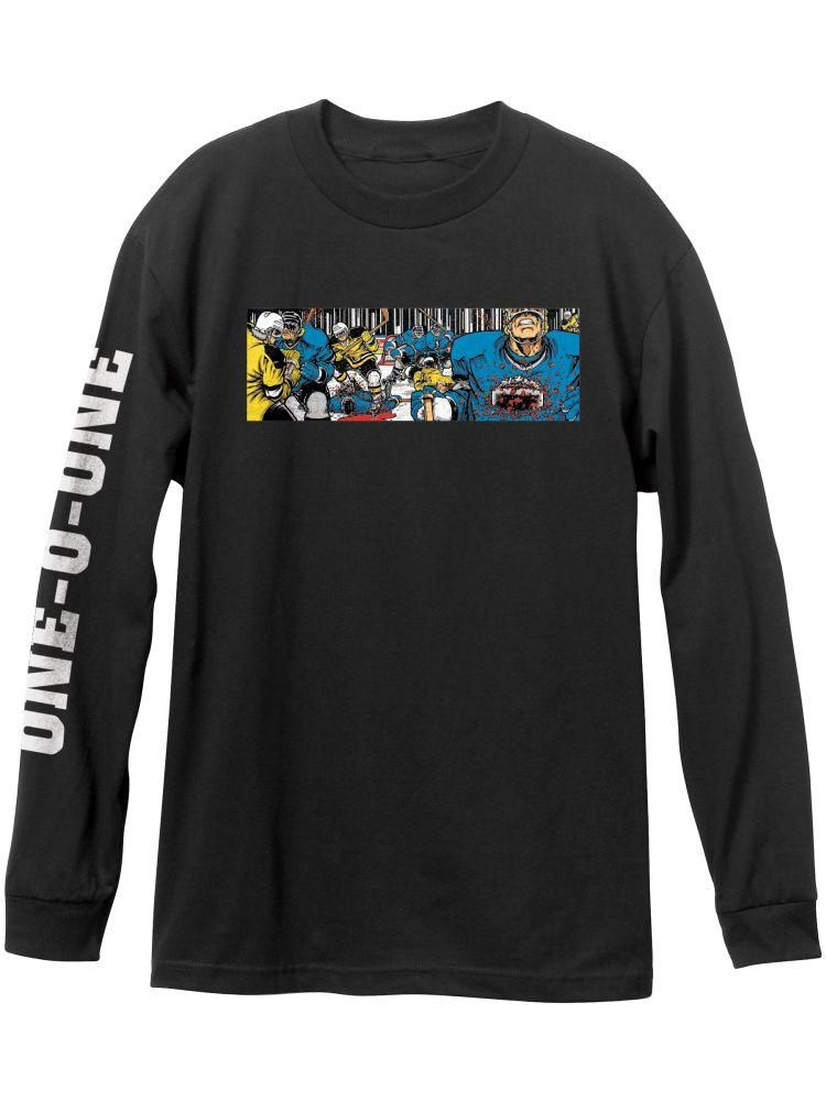 101 Hockey Black L S Tee Long Sleeve Tshirt Men Eric Koston Long Sleeve