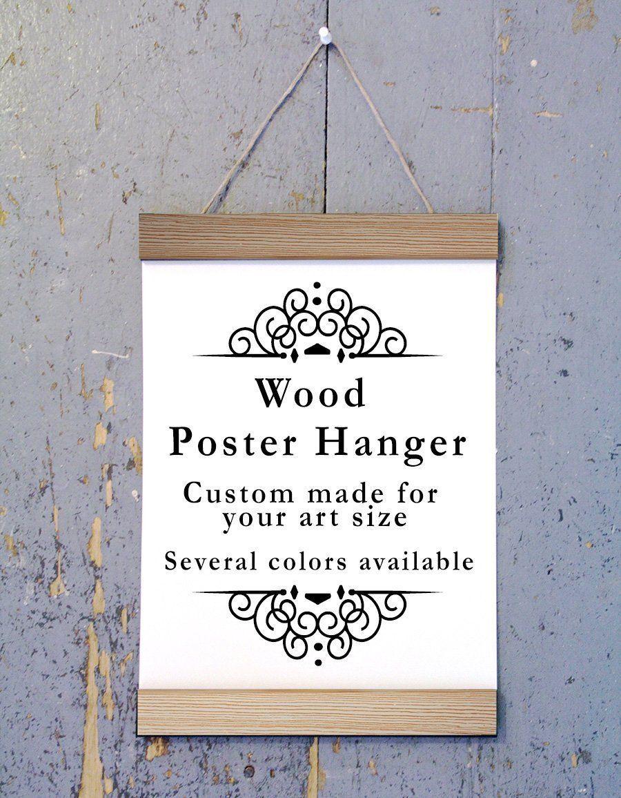 Poplar wood poster hanger custom size art hanger poster frame poplar wood poster hanger custom size art hanger poster frame picture hanger jeuxipadfo Images