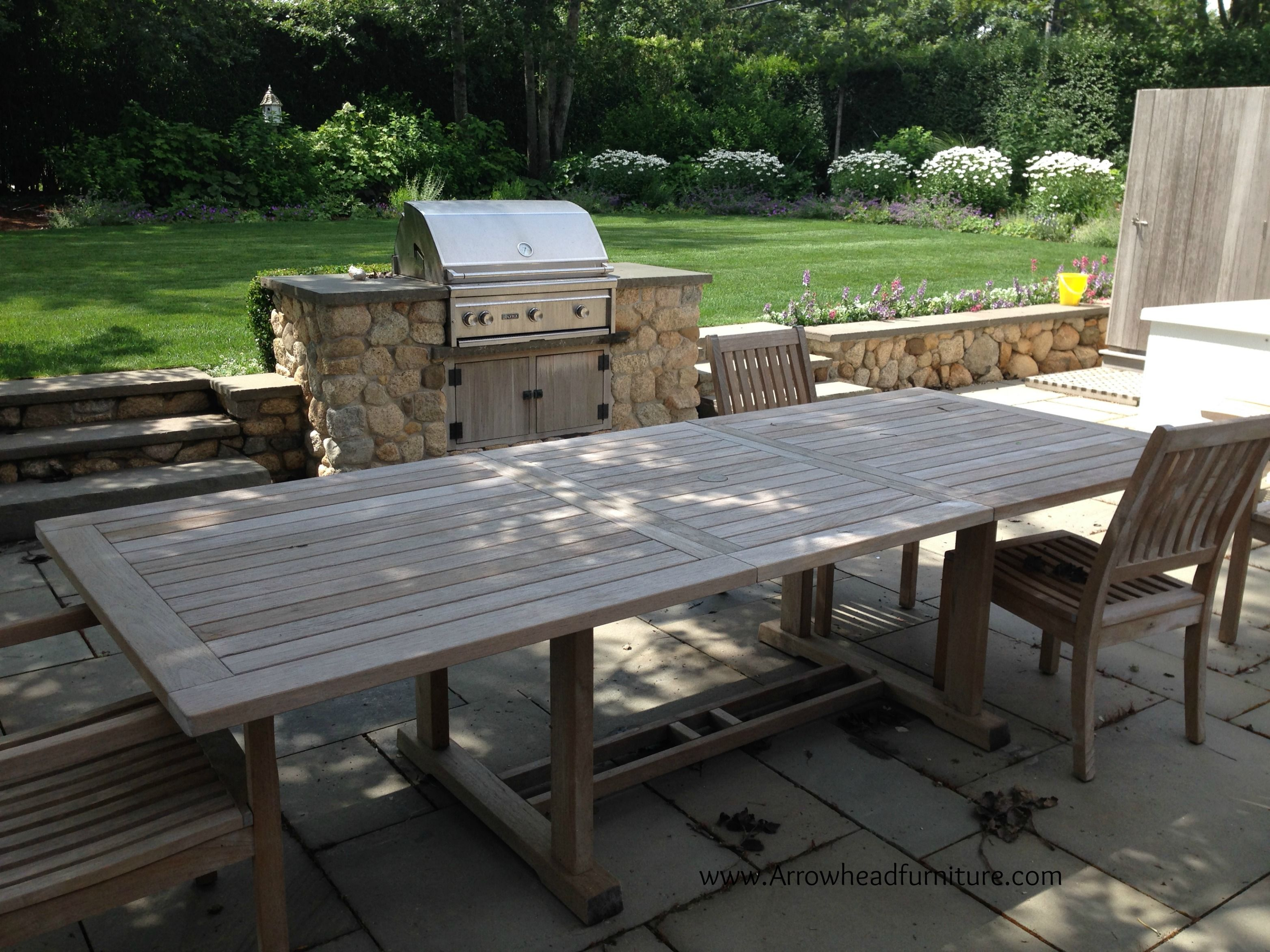 Here Is A Gloster Teak Bristol Extending Table Being Delivered To Hy New Nantucket Client