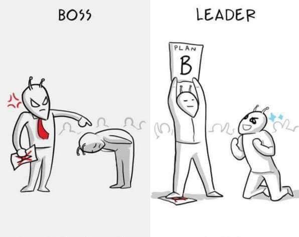 Boss vs leader series - picture 2 Funny Pinterest Infographics - line leader