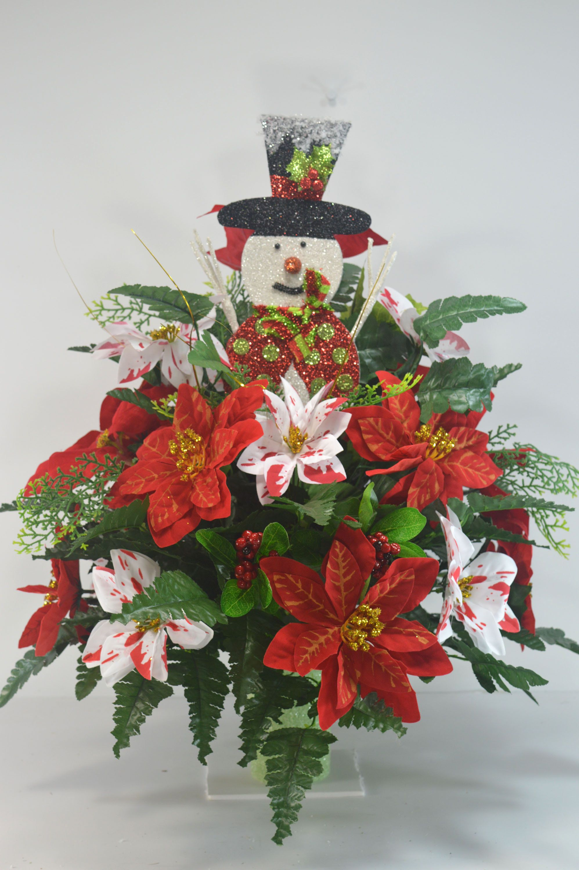 Christmas Cemetery Vase Flower Cemetery FlowersCemetery