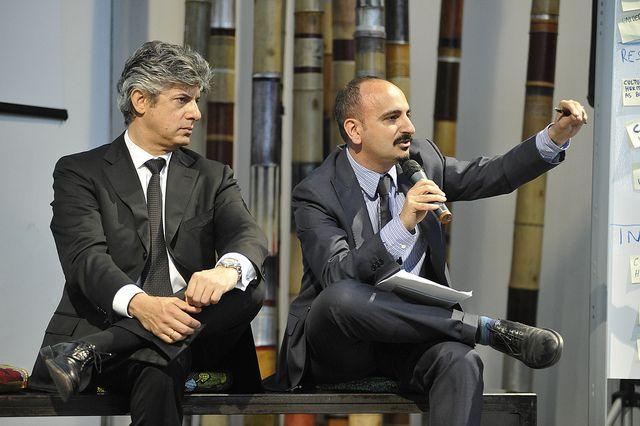 Marco Patuano (ad di Telecom Italia) e Carlo Medaglia (MIUR) by workingcapitalteam, via Flickr #ItalianRainForest