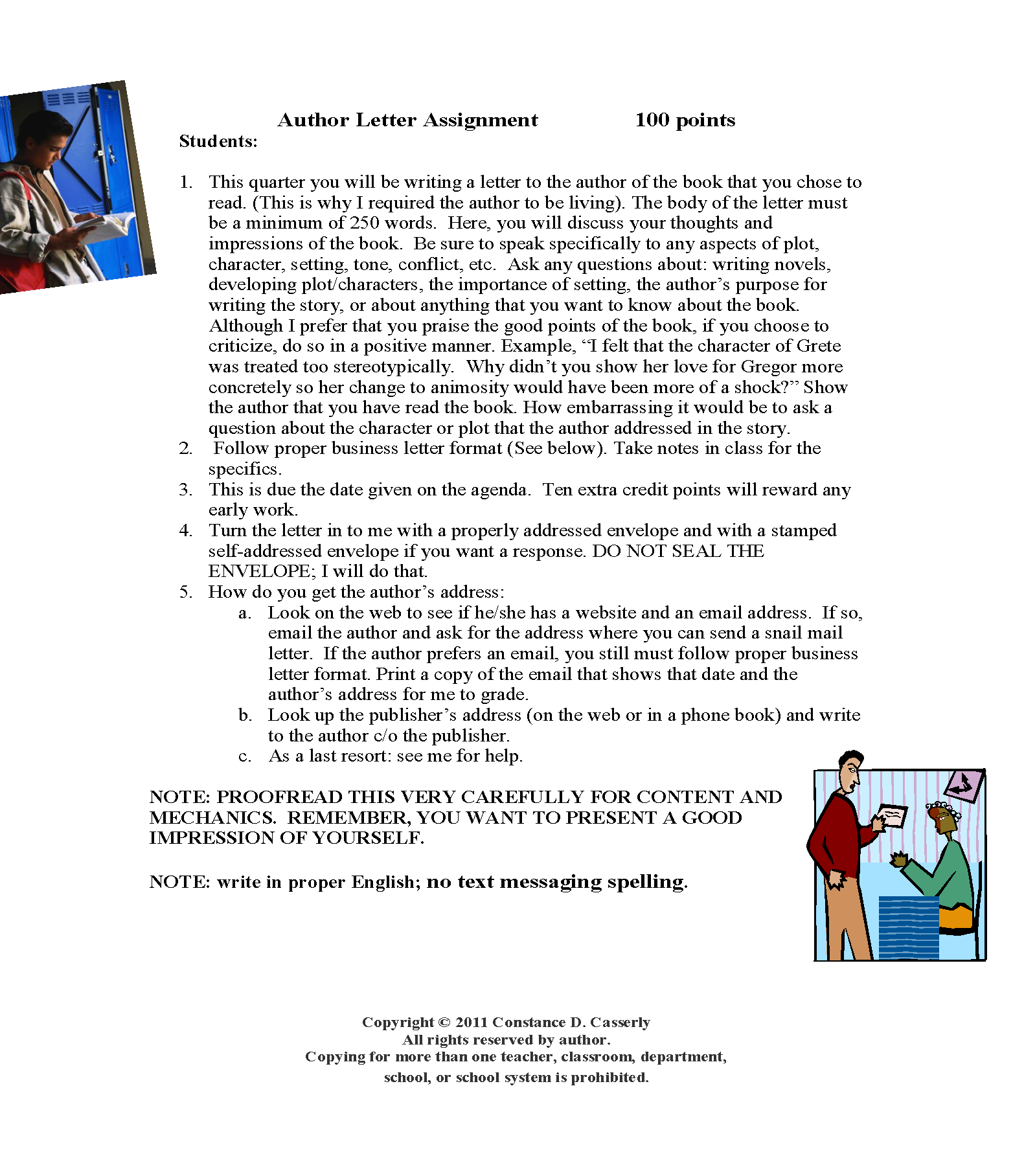 This Is An Engaging Assignment After Students Have Read A