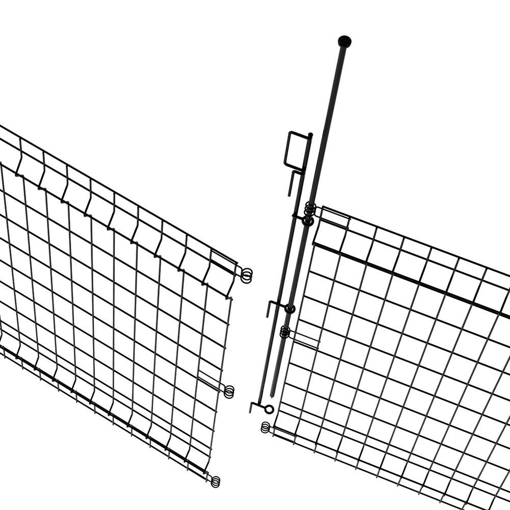 Vigoro 49 In H Steel No Dig Multi Purpose Black Latch 860282 The Home Depot In 2020 Metal Fence Panels Fence Panels Metal Fence