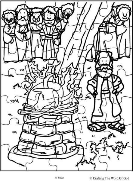 Elijah And The Prophets Of Baal Coloring Page Elijah Bible Good