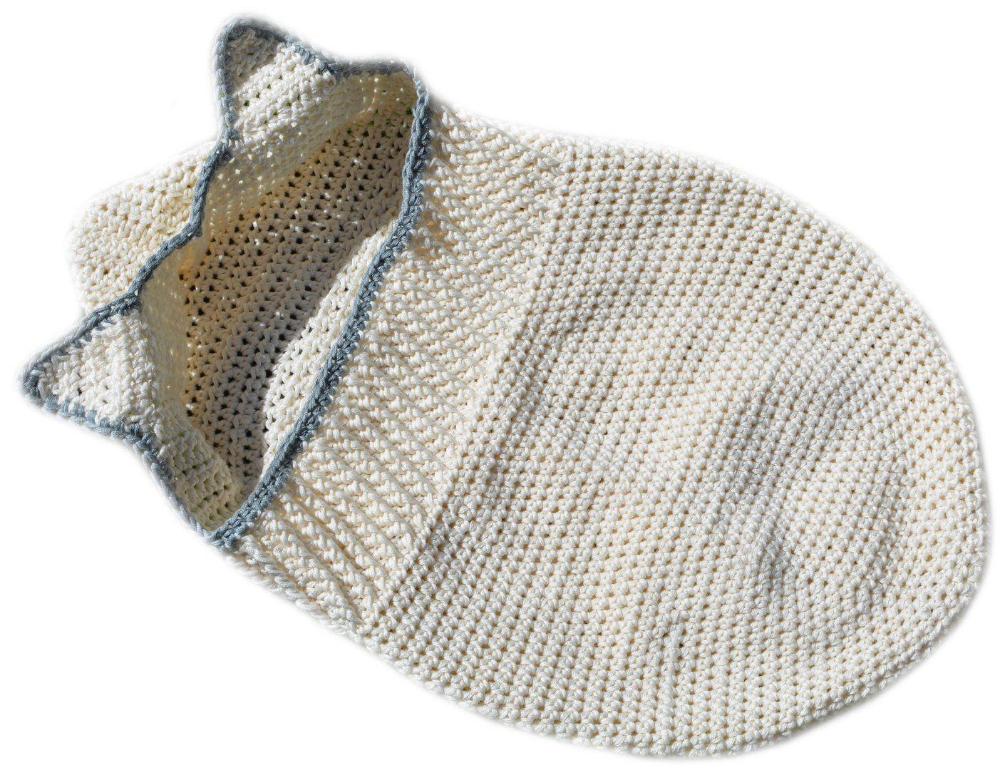 Baby Pucksack mit Öhrchen Häkelanleitung - Woolpedia® | Häkeln ...