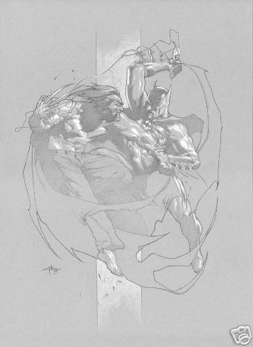 Batman vs Wolverine by Gabriele Dell'Otto