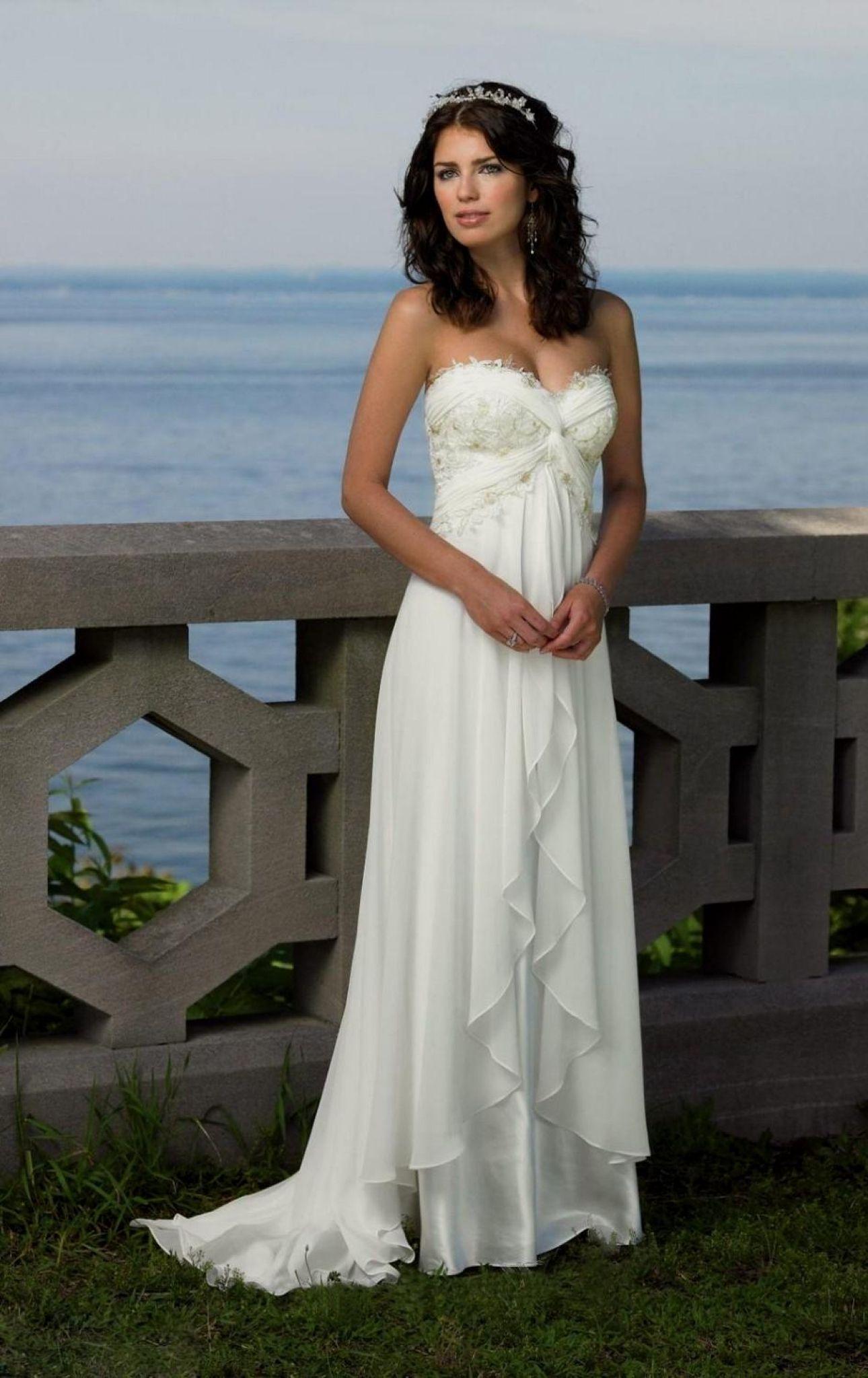 Beach white dresses for weddings
