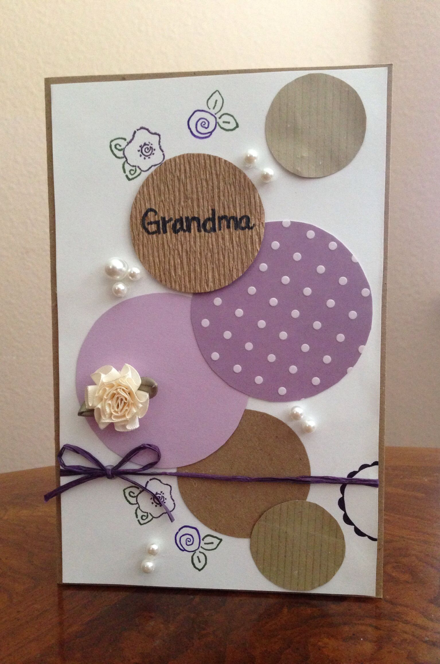 Birthday Card For Grandma Cards Pinterest Cards Handmade