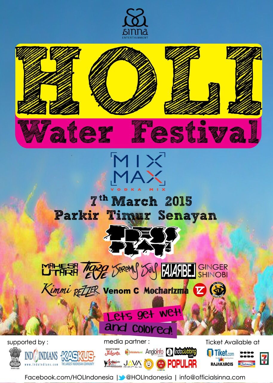Holi Water Festival Parkir Timur 7 March 2015 Rave Colony Events Tiket Dwp X