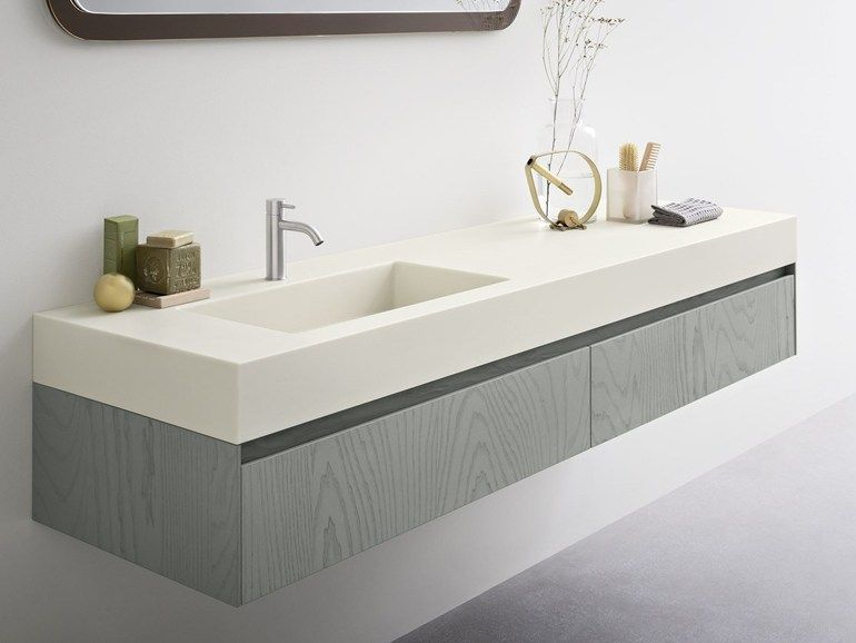 MOODE Piano lavabo in Corian  by Rexa Design | Bagno | Pinterest ...